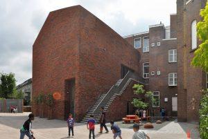 baksteen Rotterdam basisschool, klooster, renovatie architect architectuur
