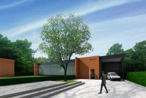 bedrijfsgebouw met tuin, kostenbesparend bouwen