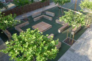 buitenruimte schoolplein groen